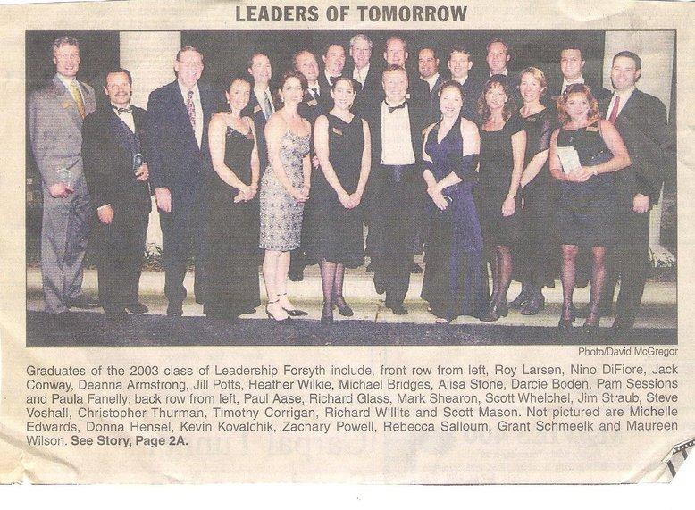 Leadership Forsyth Class of 2003!